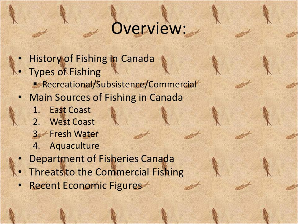 Main Sources of Commercial Fishing: 3) Fresh Water: Canadas freshwater system is the largest in the world, encompassing about 2 million rivers and lakes, totalling over 755,000 sq.