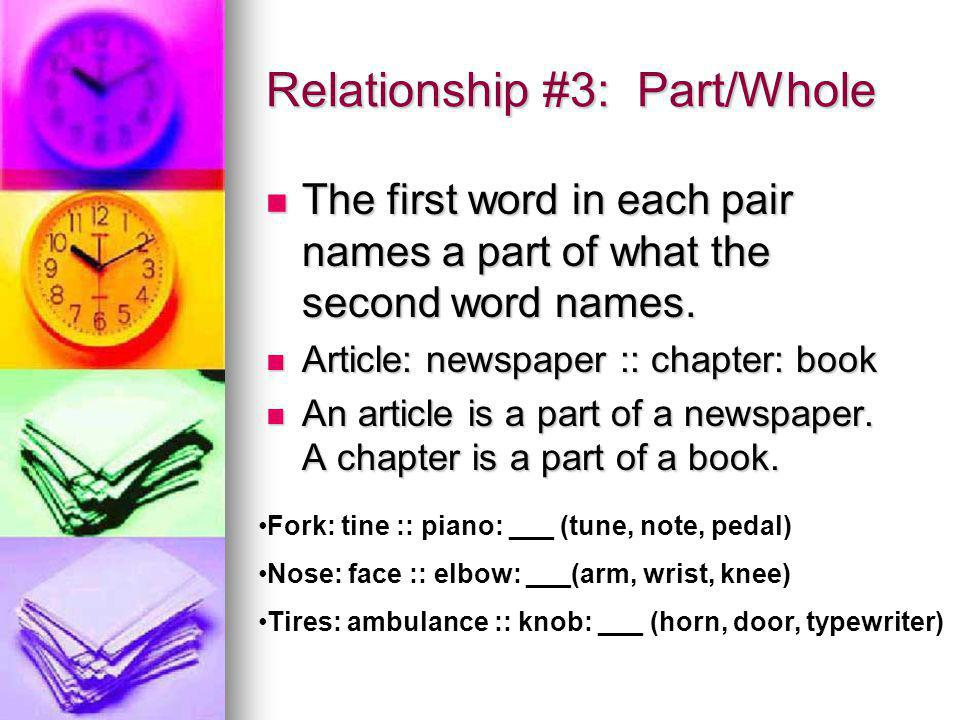 Relationship #4: Category Show a relationship between a category and something that resides within that category.