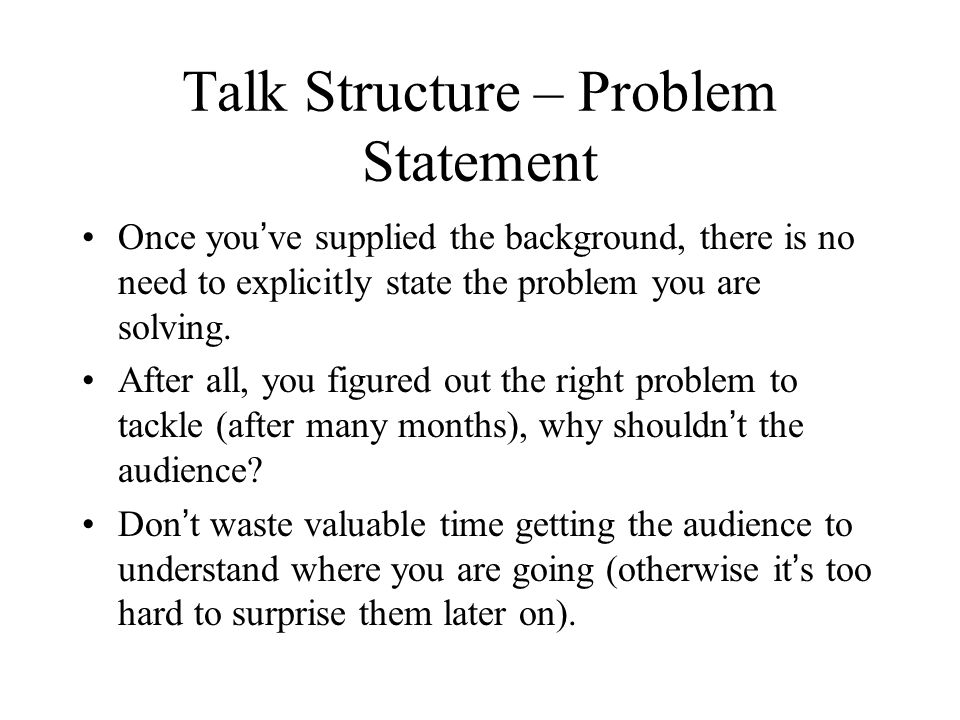 Talk Structure - Introduction Who needs an introduction.