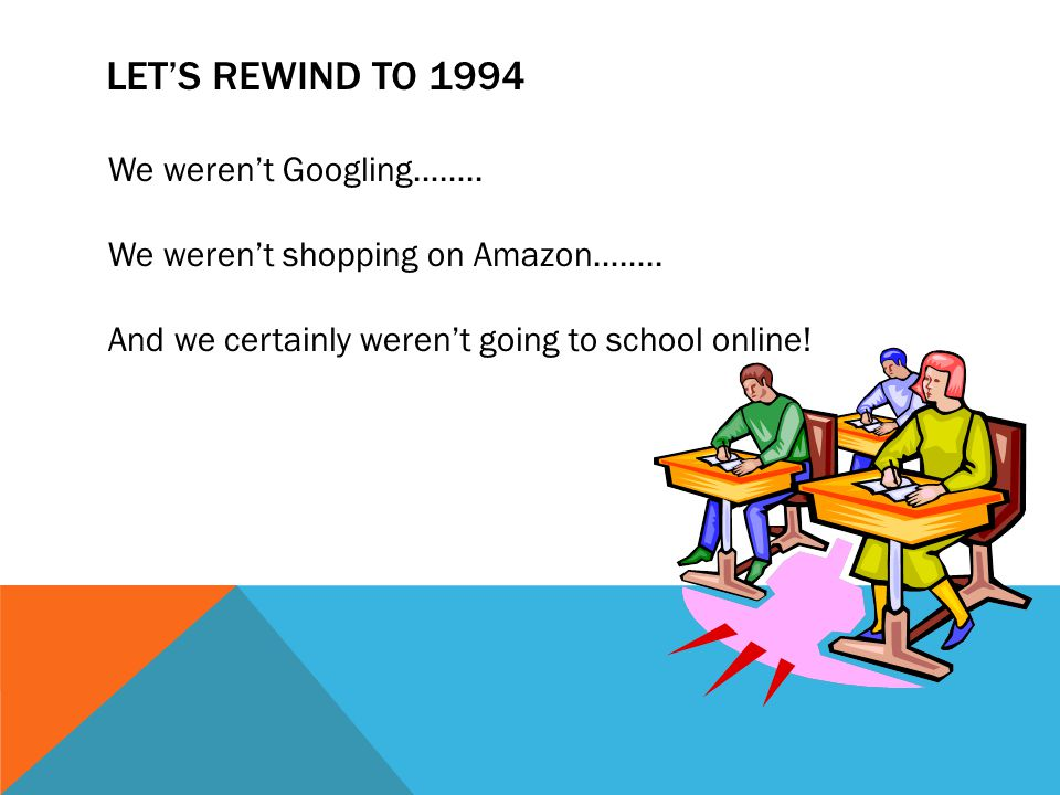LETS REWIND TO 1994 We werent Googling…….. We werent shopping on Amazon……..