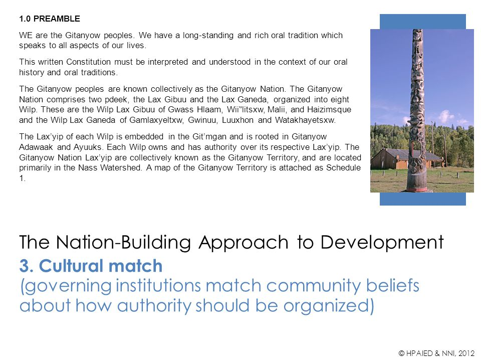 The Nation-Building Approach to Development 3.