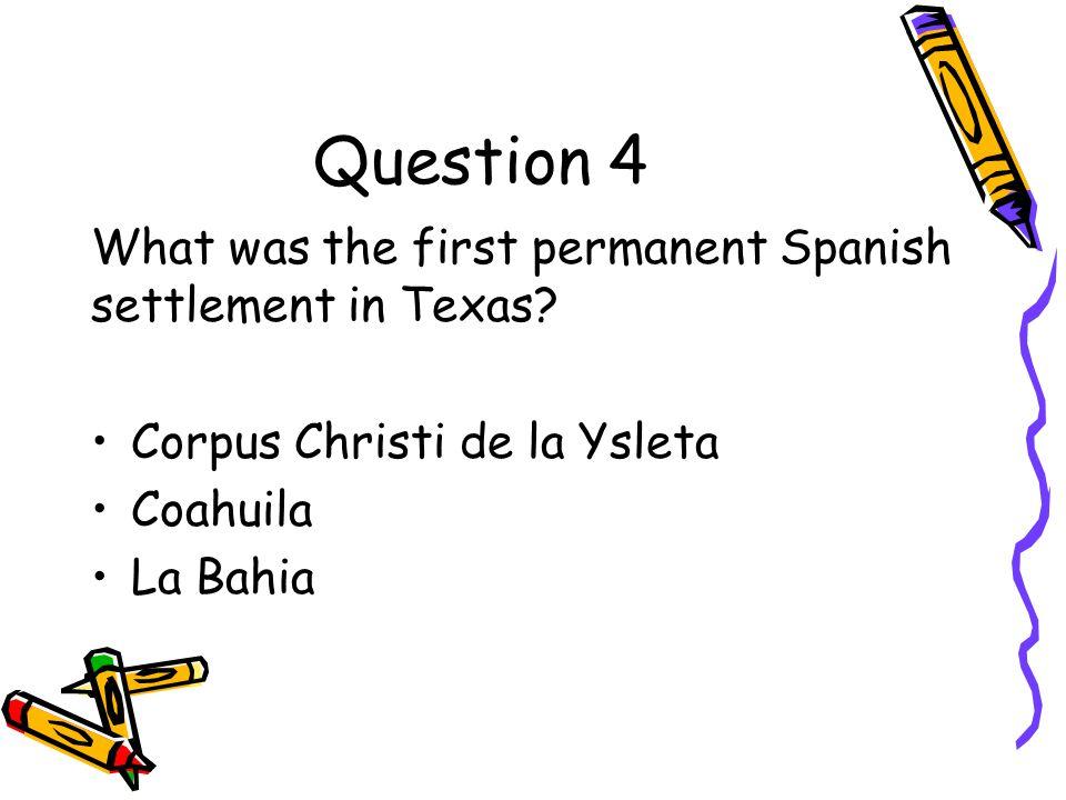 Answer to Question 3 Jose de Escondon