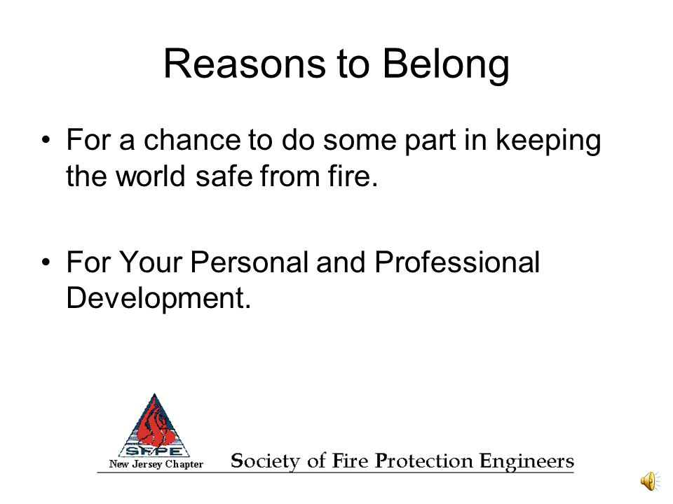 Reasons to Belong www.njsfpe.org