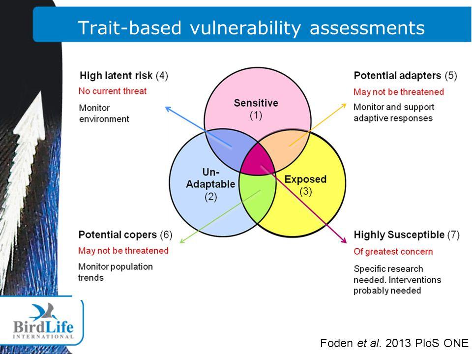 Foden et al. 2013 PloS ONE Trait-based vulnerability assessments