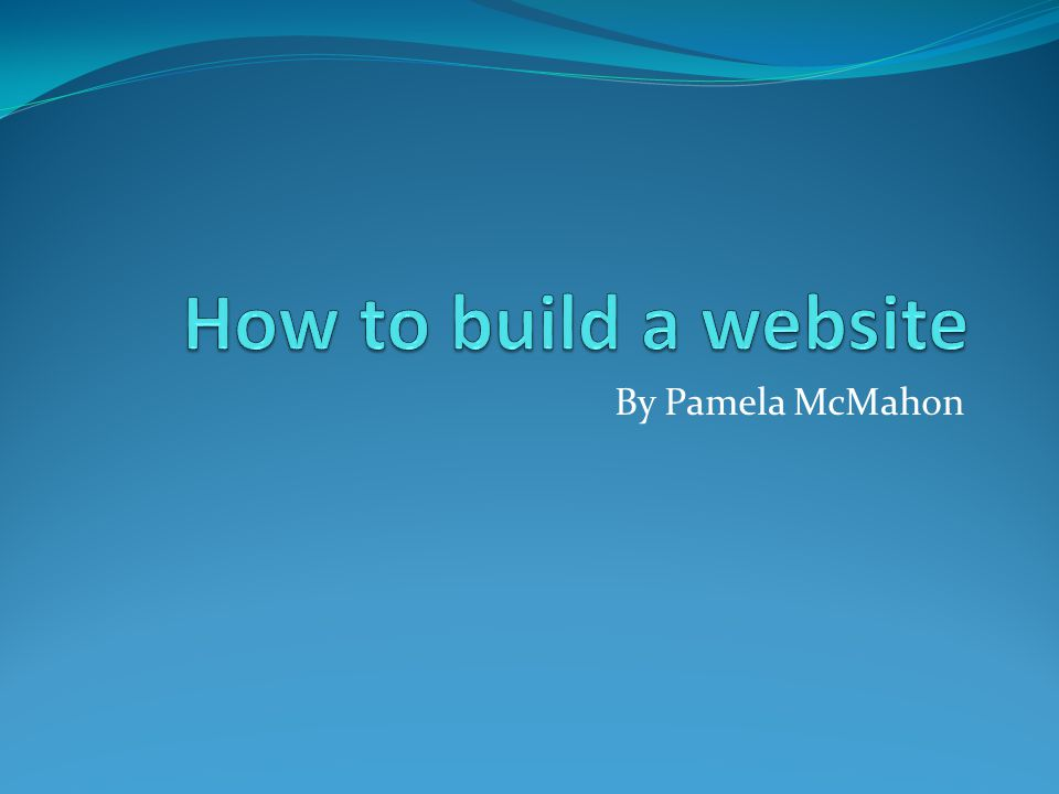 Find space on the internet In order to build a website, you must have somewhere to build it.