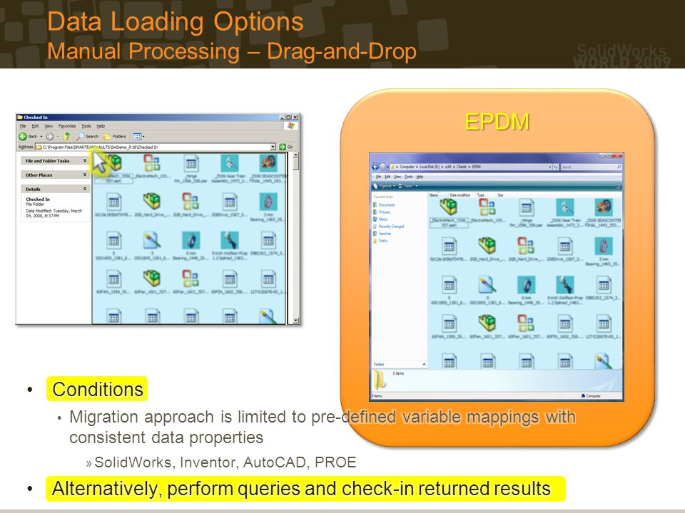 EPDMEPDM Data Loading Options Manual Processing – Drag-and-Drop