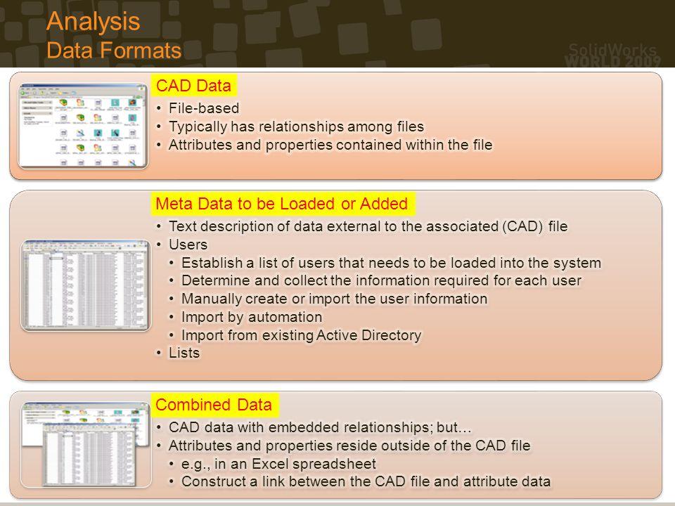 SolidWorks Enterprise PDM Data Loading Strategies Thank you.