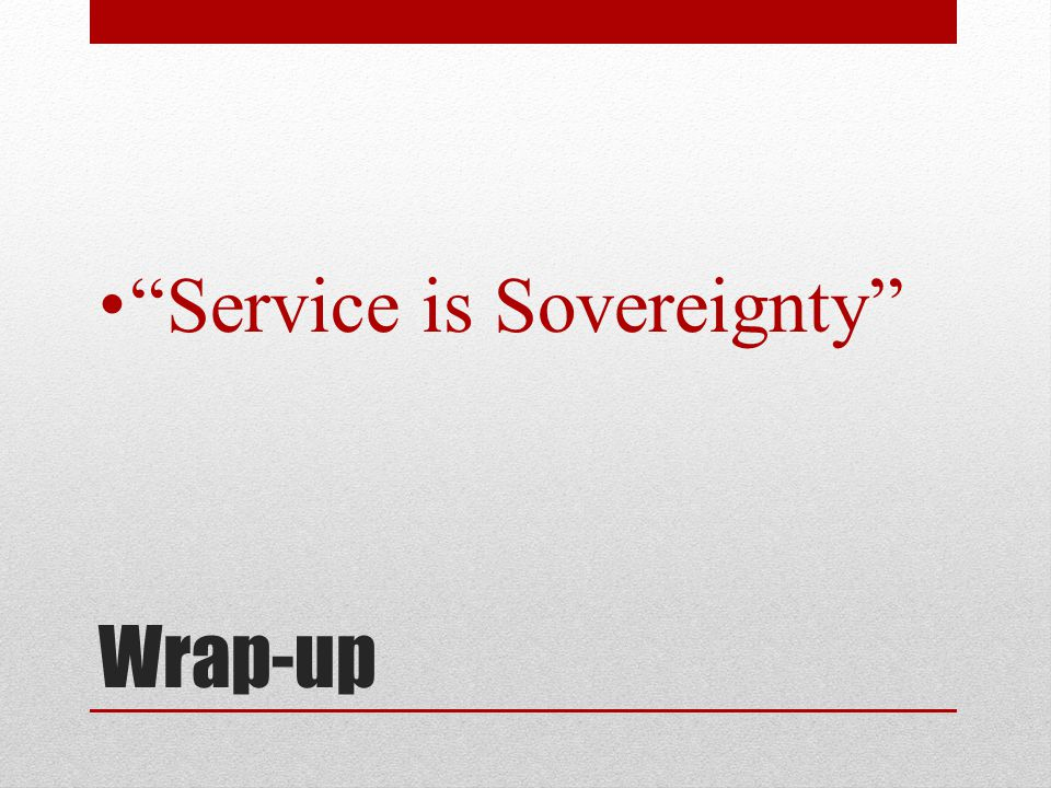 Wrap-up Service is Sovereignty