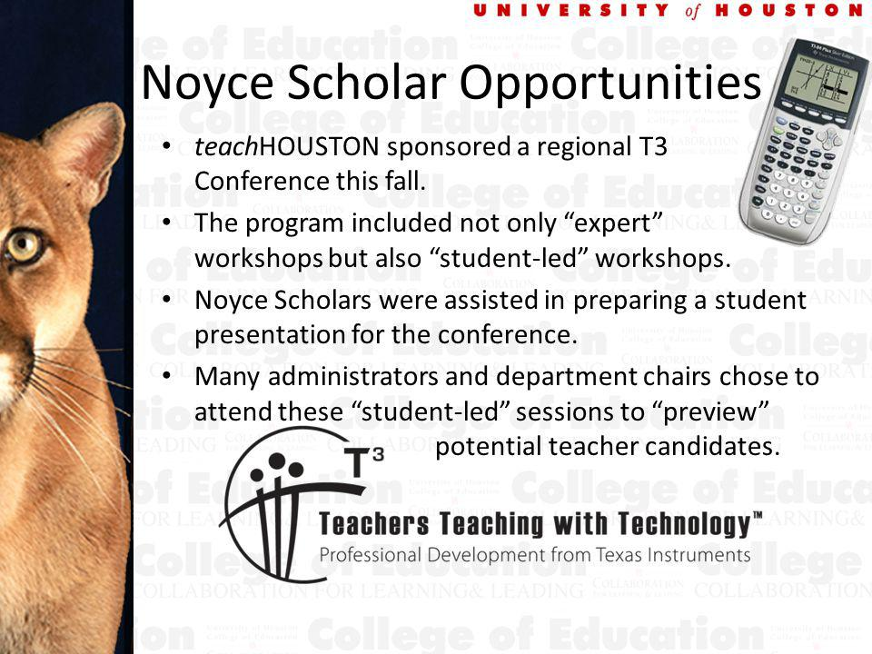Noyce Scholar Opportunities teachHOUSTON sponsored a regional T3 Conference this fall.