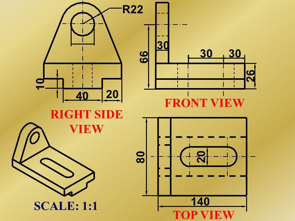 ISOMETRIC VIEW 16 20 40 20 Ø24 R22 140 40 80 60 30 X