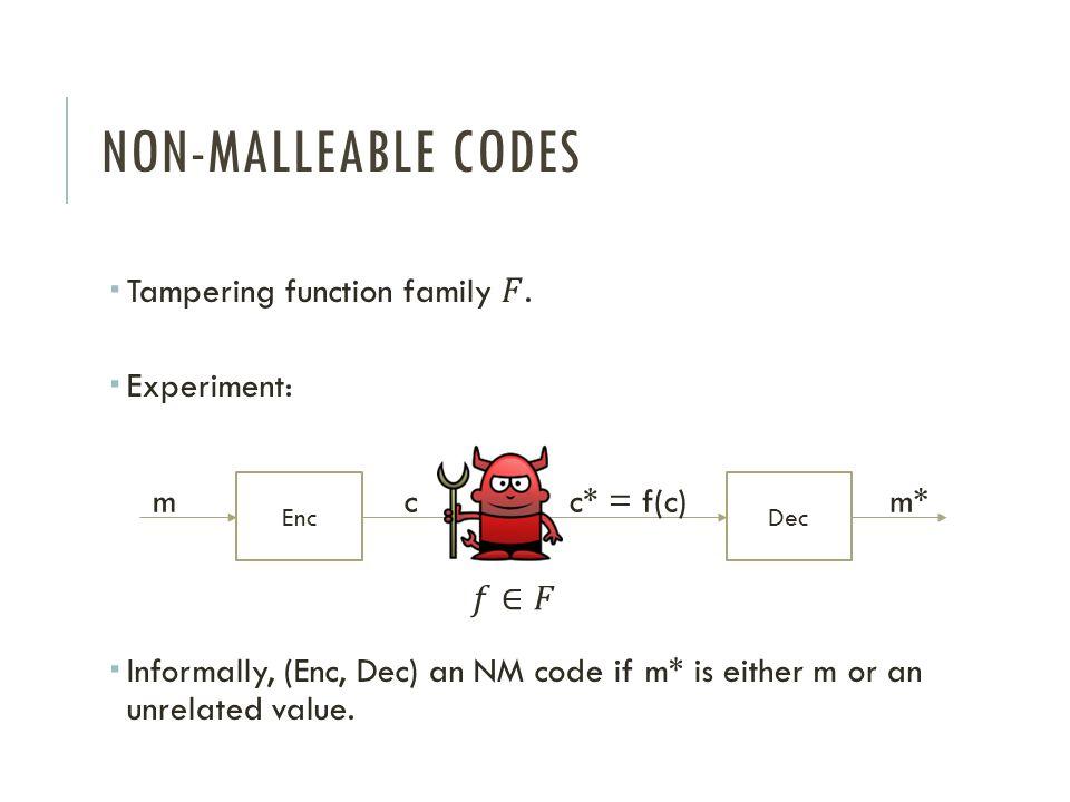 EncDec mcc* = f(c)m*
