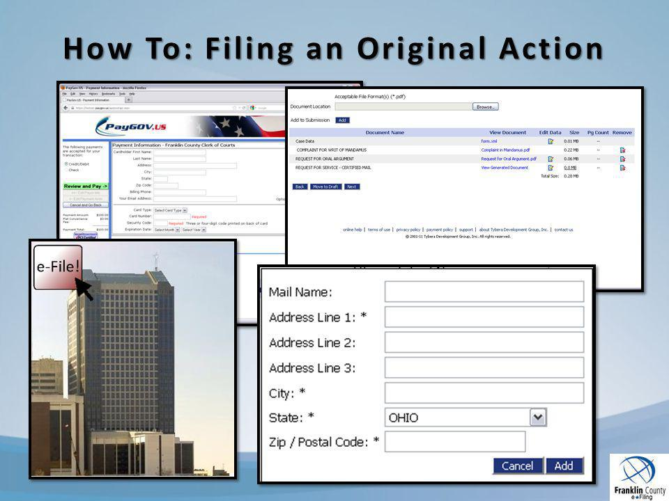 How To: Filing an Original Action