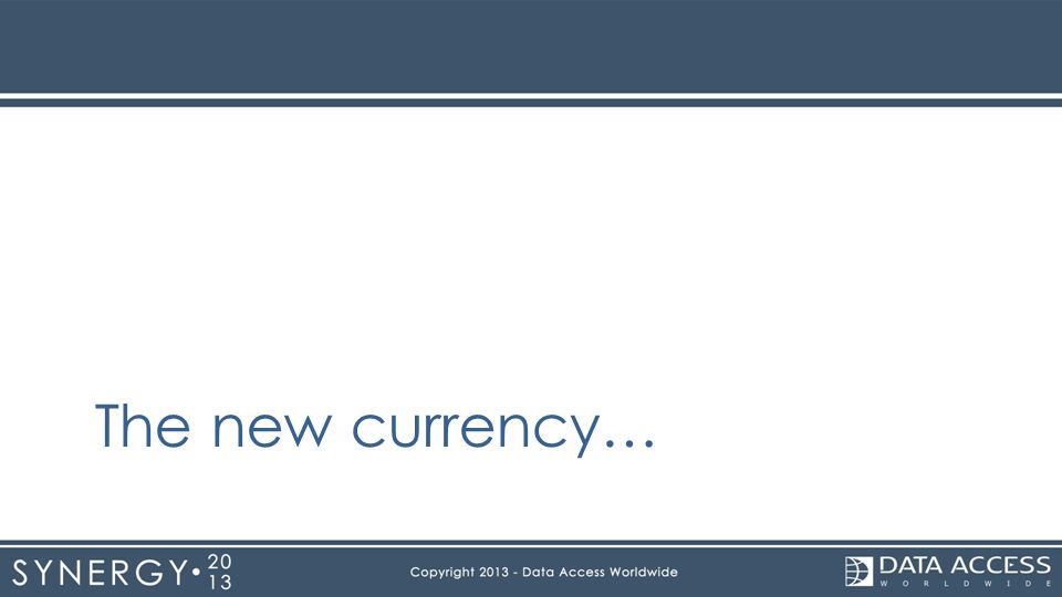 The new currency…