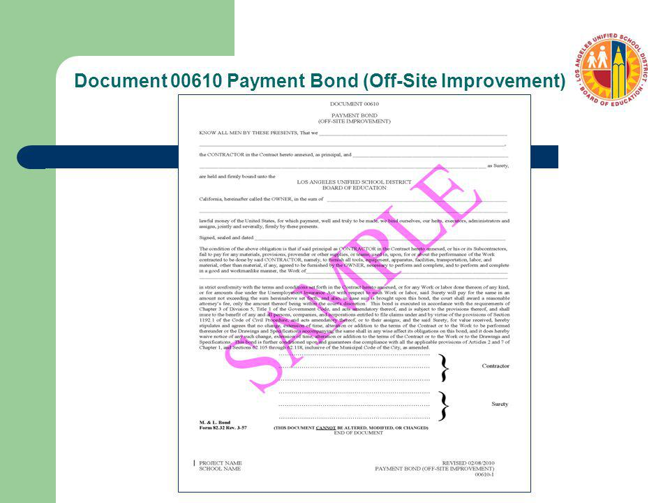 Document 00610 Payment Bond (Off-Site Improvement)