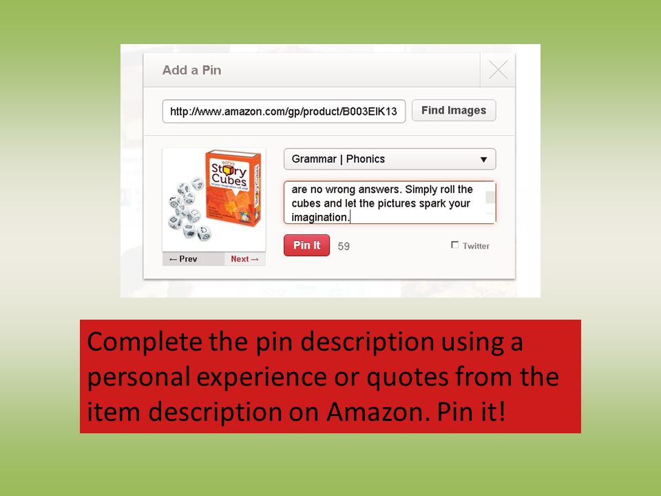 Complete the pin description using a personal experience or quotes from the item description on Amazon.