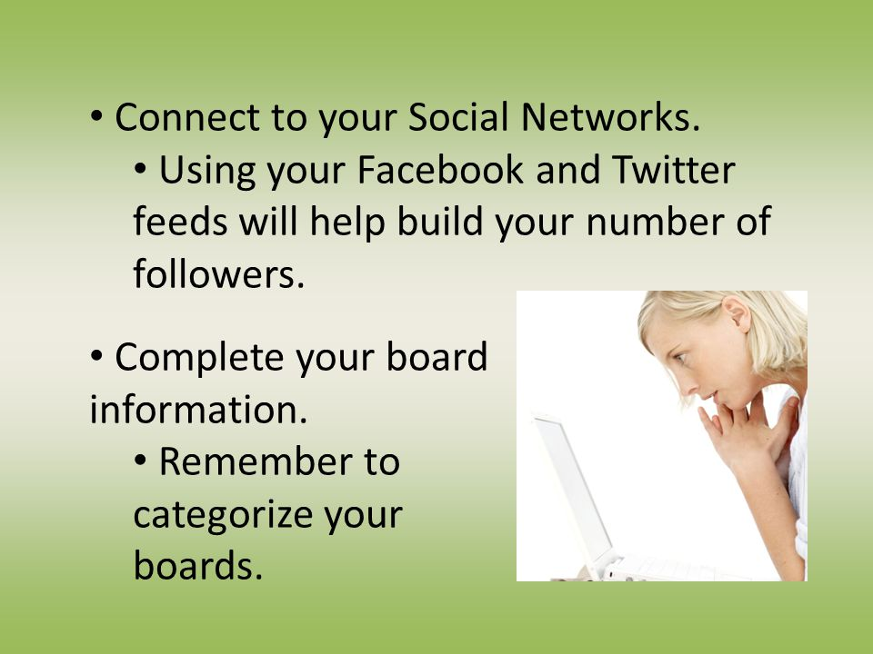 Connect to your Social Networks.