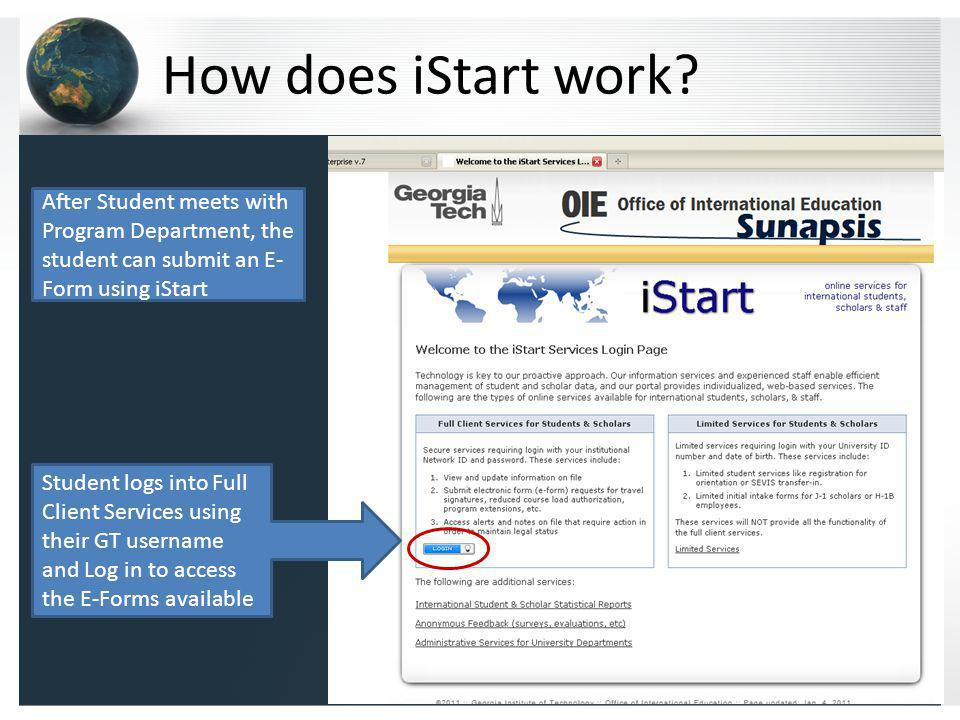 How does iStart work.