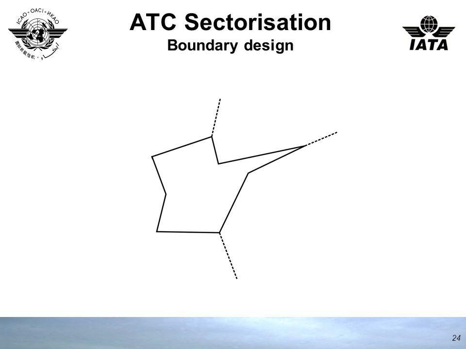 ATC Sectorisation Boundary design 24