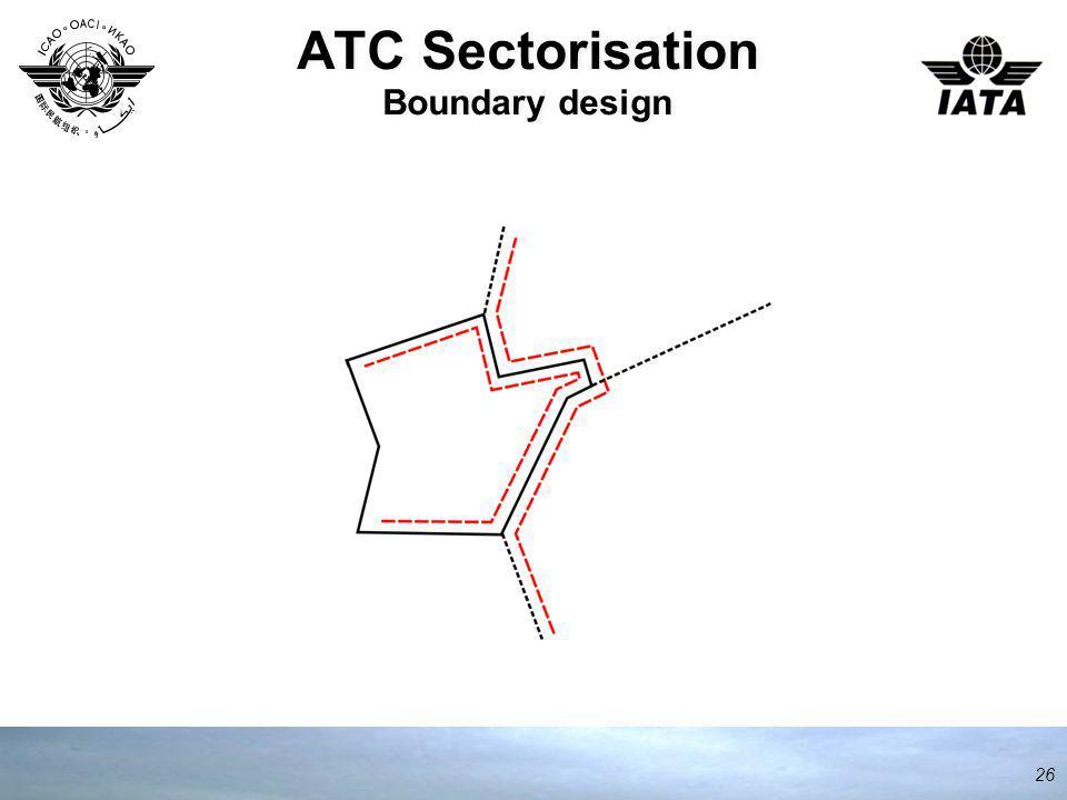 ATC Sectorisation Boundary design 26