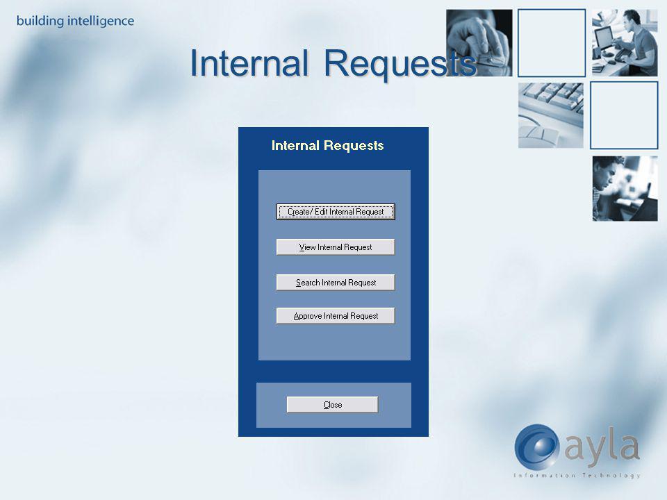 Internal Requests