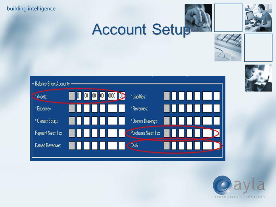 Account Setup Account Setup