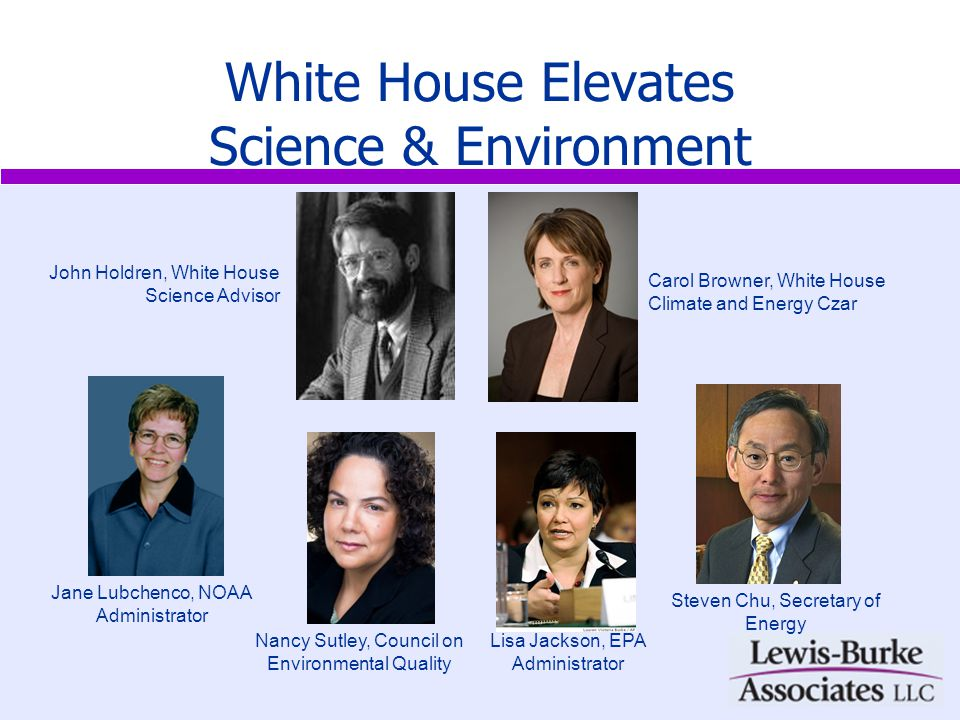 White House Elevates Science & Environment White House – Elevation of climate change, nexus to energy and environment New Legislation – Mitigation and adaptation, cap and trade, climate service; commitment to enact legislation in 2009 Global Stage – Publicly stated goal to have legislation by Copenhagen New Players – DOE, EPA, CEQ, expanded role for NOAA Energy Focus – (1) Reduce GHG emissions, (2) promote energy independence, (3) create a new clean energy economy Future of USGCRP/CCSP