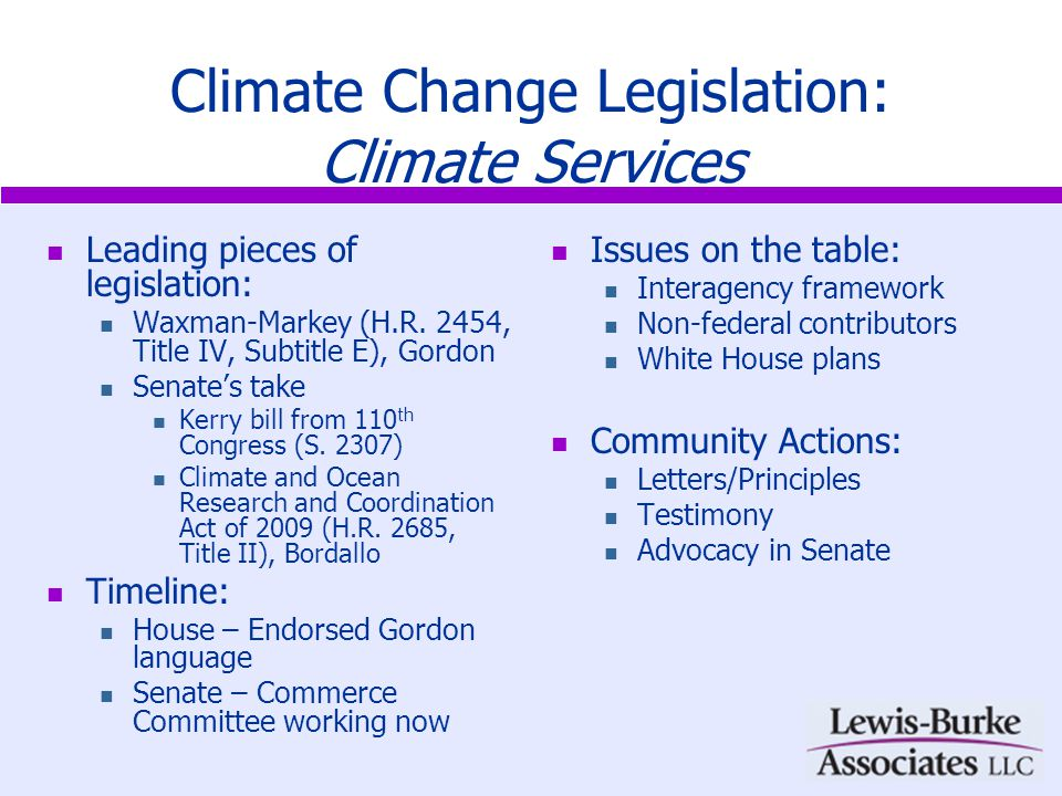 Renewable Energy Leading pieces of legislation: Energy titles in Waxman-Markey (H.R.
