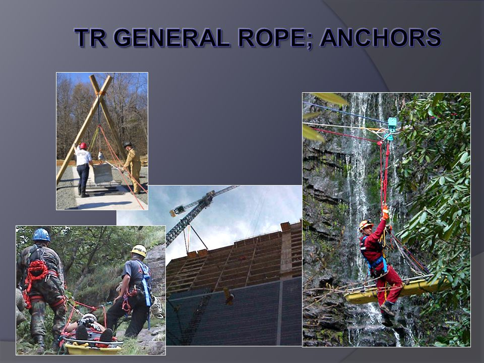 Webbing For Anchors Less expensive than rope Fewer knots to be learned.