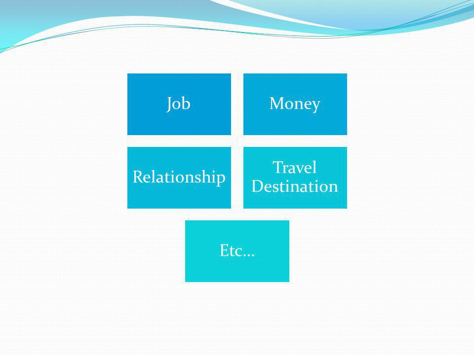 JobMoney Relationship Travel Destination Etc…