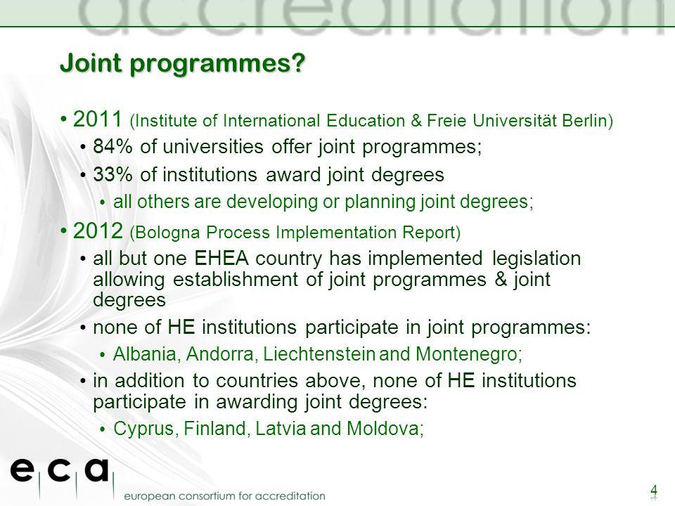 Joint programmes.