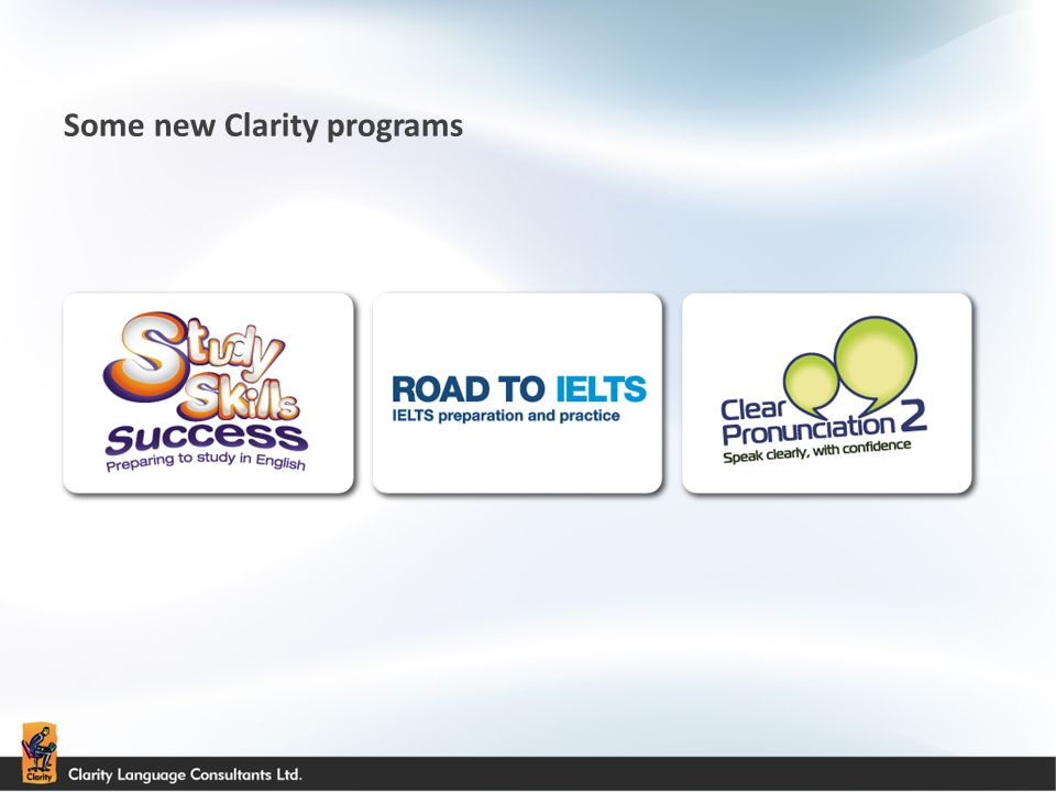 Some new Clarity programs