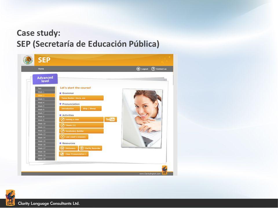 Case study: SEP (Secretaría de Educación Pública)