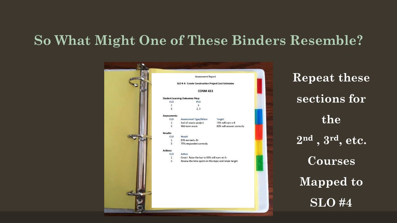 So What Might One of These Binders Resemble.