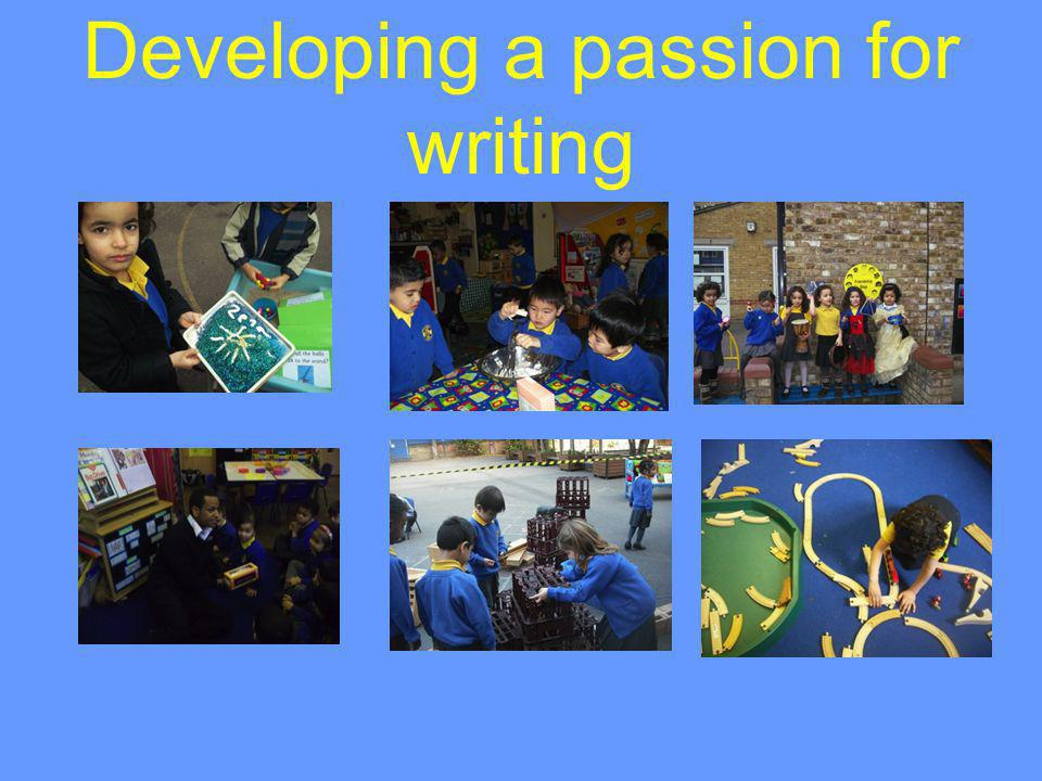 Developing a passion for writing