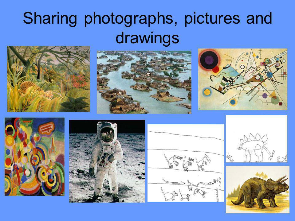 Sharing photographs, pictures and drawings