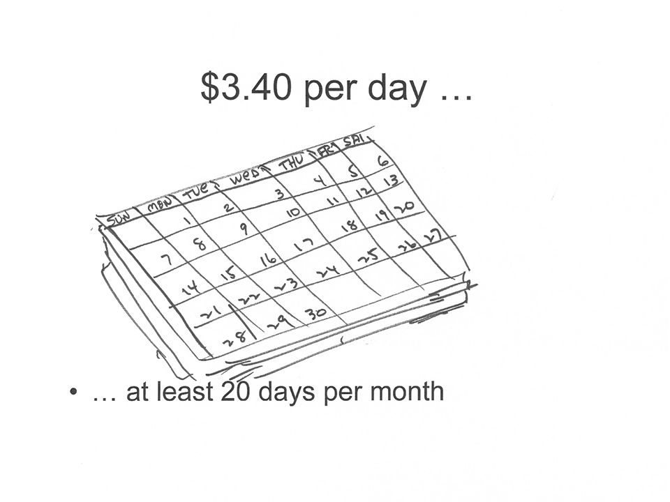 … at least 20 days per month Picture of Calendar