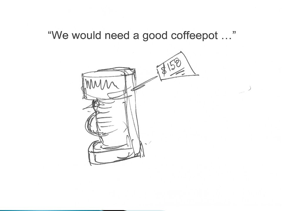 Picture of coffeepot With price tag of $158.00