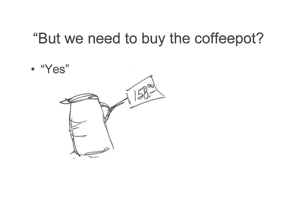 Yes Picture of coffeepot with $158 price tag