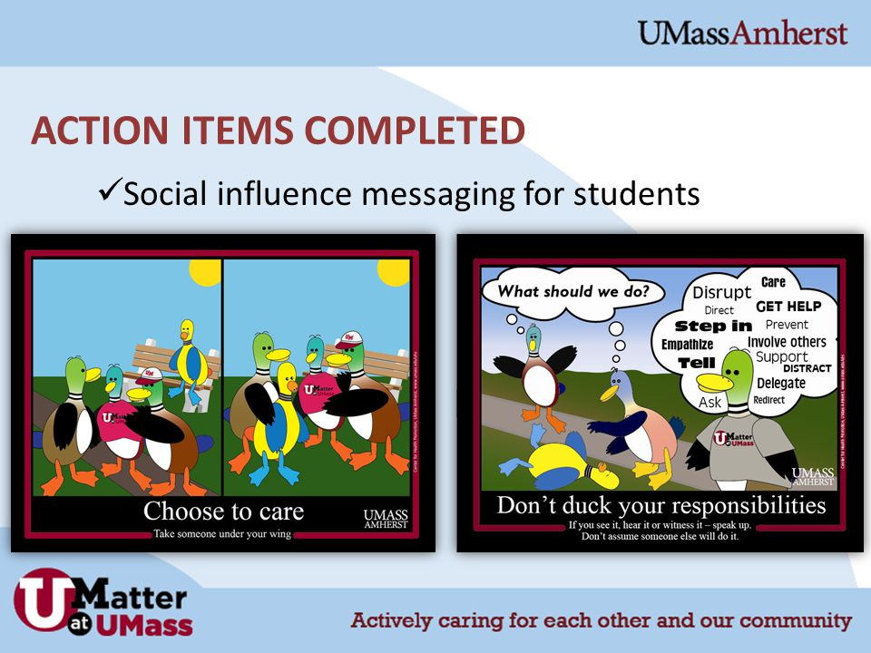 Social influence messaging for students