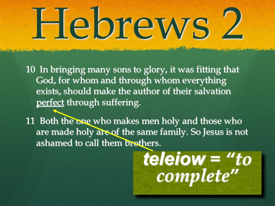 Hebrews 2 10 In bringing many sons to glory, it was fitting that God, for whom and through whom everything exists, should make the author of their sal