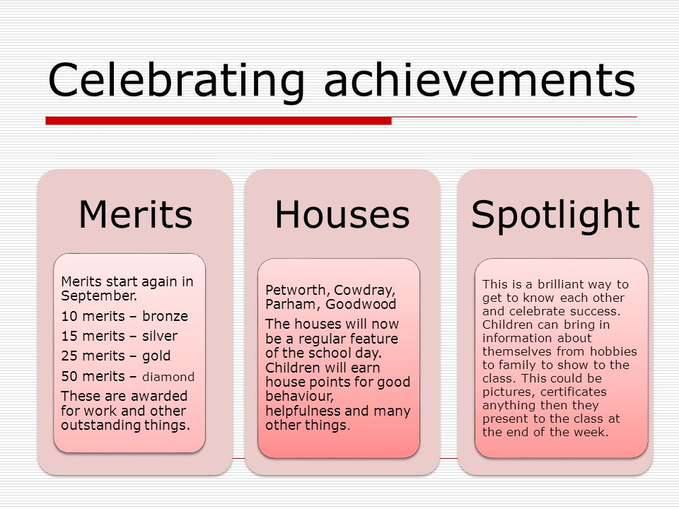 Celebrating achievements Spotlight This is a brilliant way to get to know each other and celebrate success.