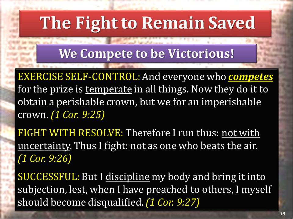 We Compete to be Victorious.