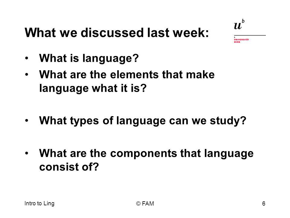 Sounds of language I: Phonetics production of speech sounds where in our mouths with what elements, etc.
