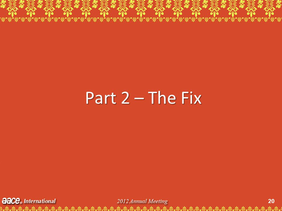 20 Part 2 – The Fix