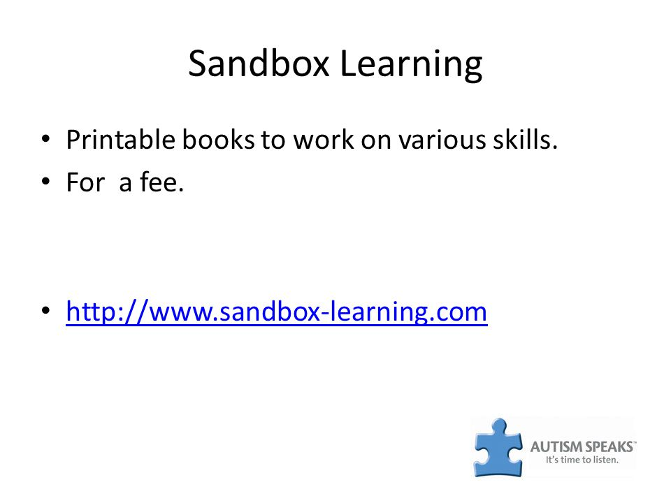Sandbox Learning Printable books to work on various skills. For a fee. http://www.sandbox-learning.com