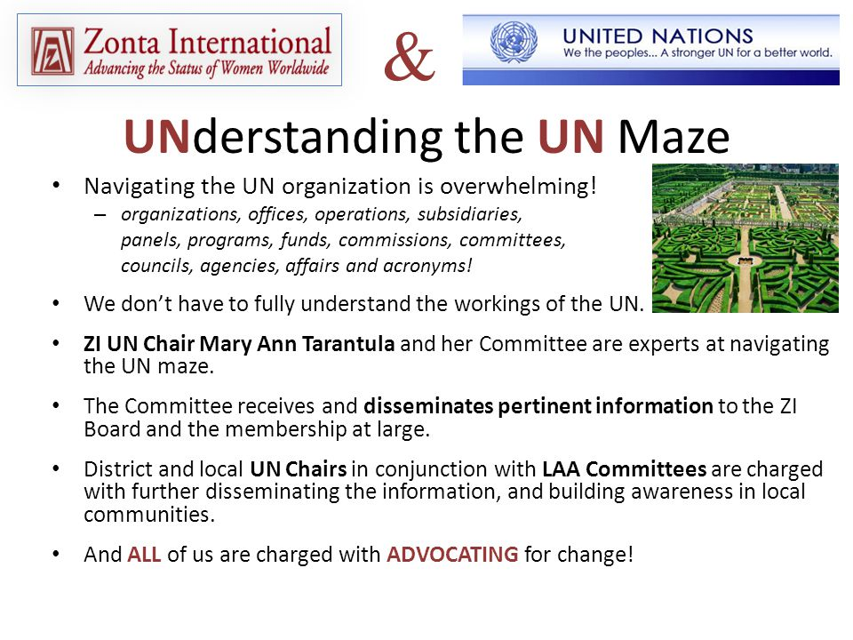 Navigating the UN organization is overwhelming.