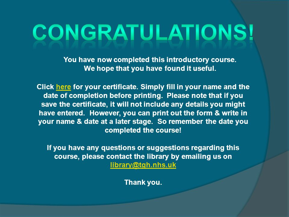 Click here for your certificate.