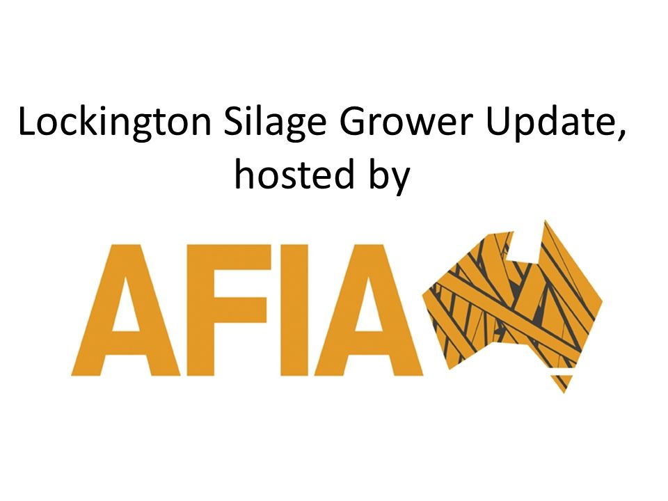 Lockington Silage Grower Update, hosted by