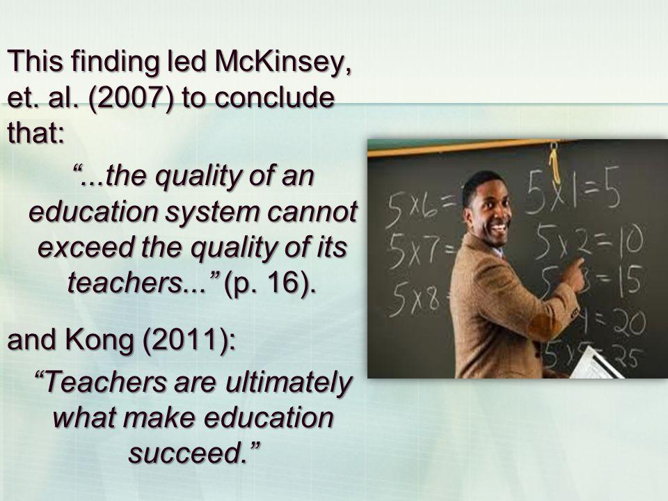 This finding led McKinsey, et.al.