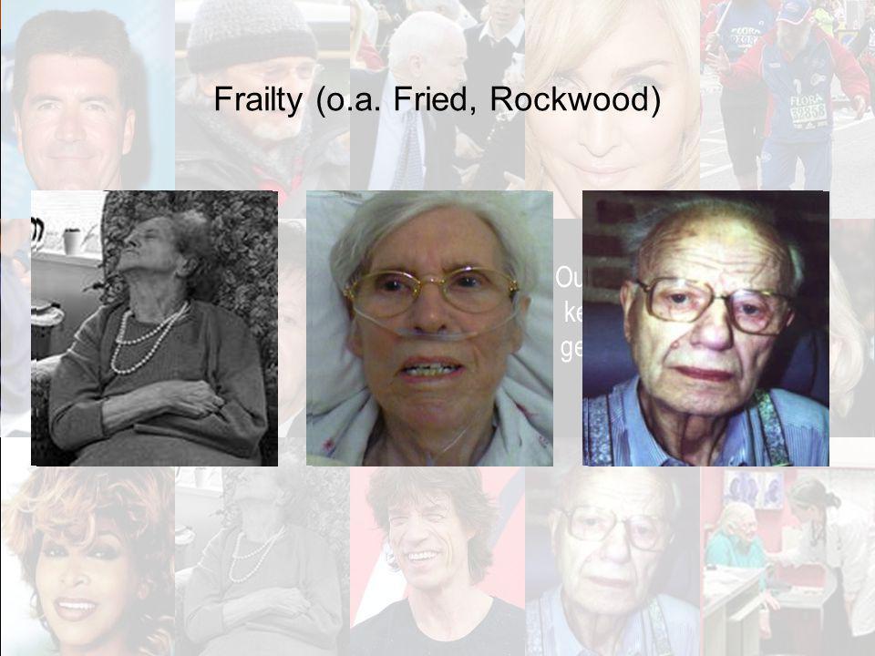 6 Ouderdom kent veel gezichten Frailty (o.a. Fried, Rockwood)